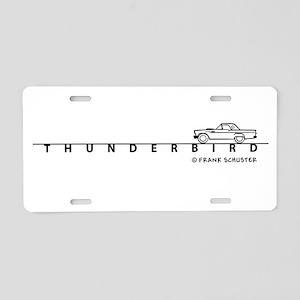 1957 Ford Thunderbird w Type Aluminum License Plat