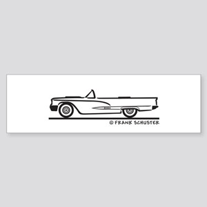 1958 Ford Thunderbird Convert Sticker (Bumper)