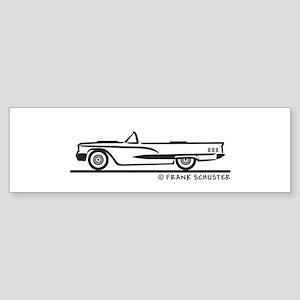 1960 Ford Thunderbird Convert Sticker (Bumper)