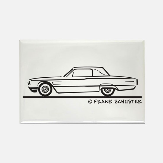 1965 Ford Thunderbird Landau Rectangle Magnet
