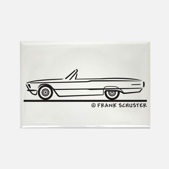 1966 Ford Thunderbird Convert Rectangle Magnet