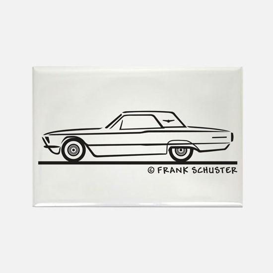 1966 Ford Thunderbird Hard To Rectangle Magnet