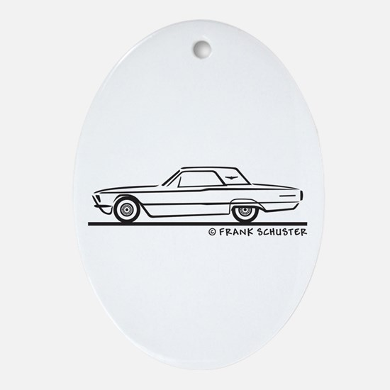 1966 Ford Thunderbird Hard To Ornament (Oval)