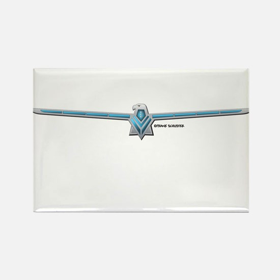 66 T Bird Emblem Rectangle Magnet
