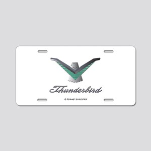 T Bird Emblem with Script Aluminum License Plate