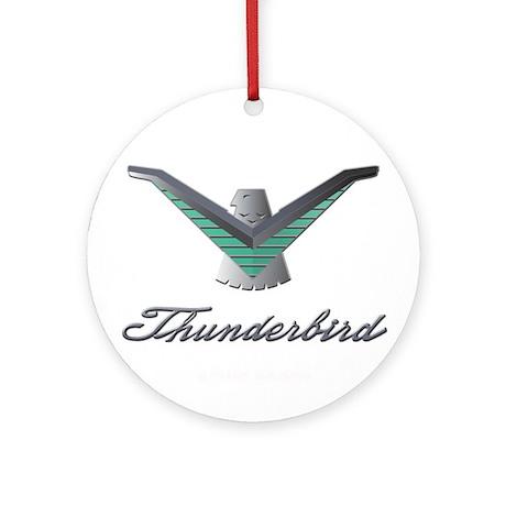 T Bird Emblem with Script Ornament (Round)