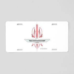 T Bird Emblem with Pinstripes Aluminum License Pla
