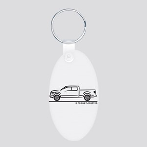 2010 Ford F 150 Aluminum Oval Keychain