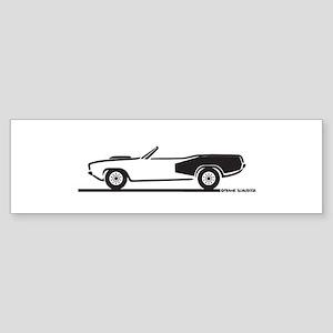 1970-74 Hemi Cuda Convertible Sticker (Bumper)