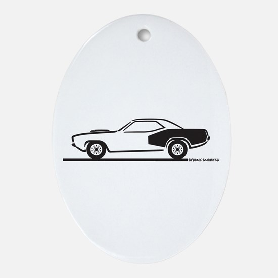1970-74 Plymouth Hemi Cuda Ornament (Oval)