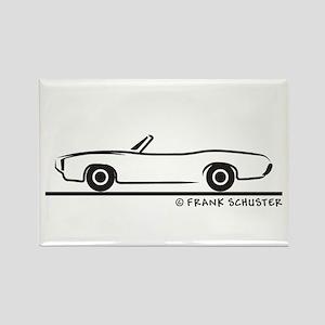 1969 Pontiac GTO Convertible Rectangle Magnet