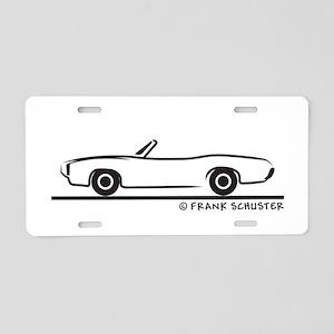 1969 Pontiac GTO Convertible Aluminum License Plat