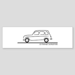 Renault R4 Quatrelle Sticker (Bumper)