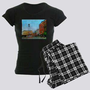 Placerville Bell Tower Square Women's Dark Pajamas