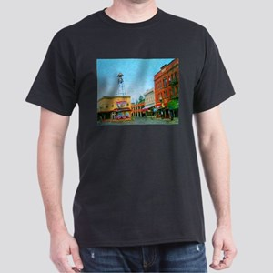 Placerville Bell Tower Square Dark T-Shirt