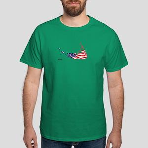 Nantucket Island MA - Map Design Dark T-Shirt