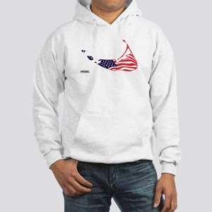Nantucket Island MA - Map Design Hooded Sweatshirt