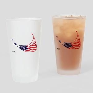 Nantucket Island MA - Map Design Drinking Glass