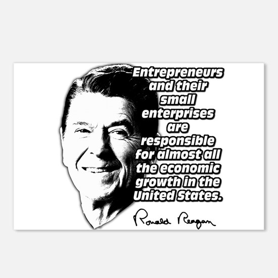 Reagan Quote Small Business Postcards (Package of
