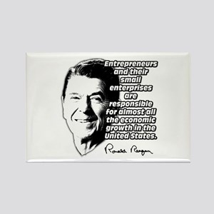 Reagan Quote Small Business Rectangle Magnet