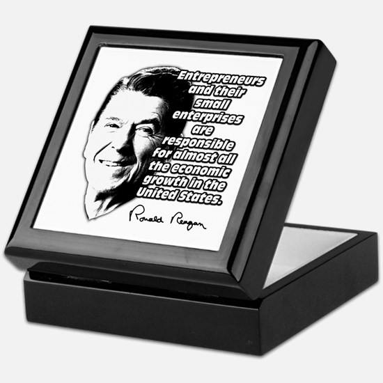 Reagan Quote Small Business Keepsake Box