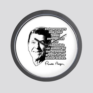 Reagan Quote Small Business Wall Clock