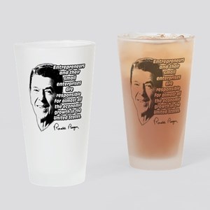 Reagan Quote Small Business Drinking Glass
