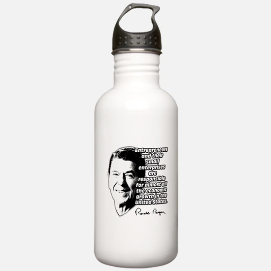 Reagan Quote Small Business Sports Water Bottle
