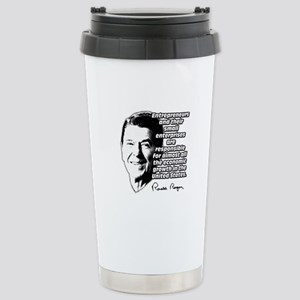 Reagan Quote Small Business Stainless Steel Travel