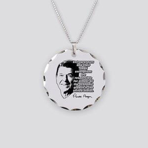 Reagan Quote Small Business Necklace Circle Charm
