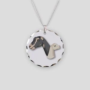 LaMancha Goat Necklace Circle Charm