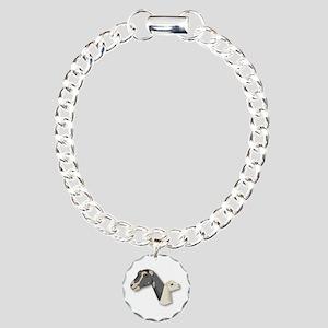 LaMancha Goat Charm Bracelet, One Charm