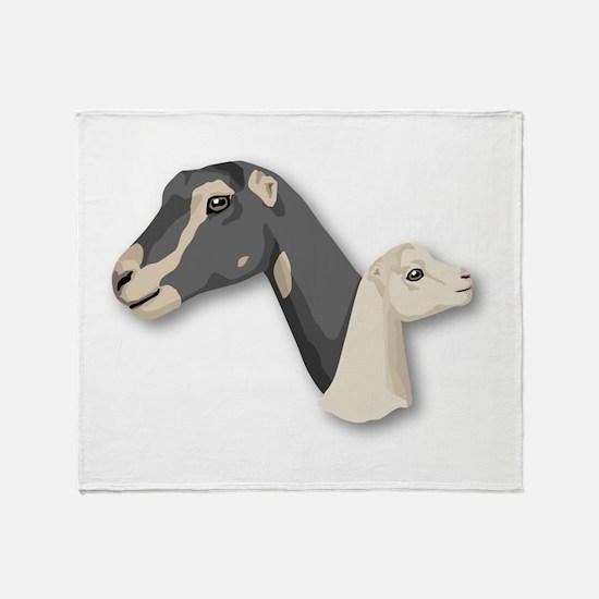 LaMancha Goat Throw Blanket