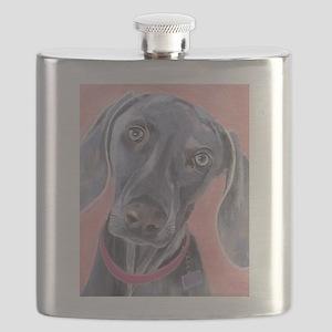 Weimaraner Flask