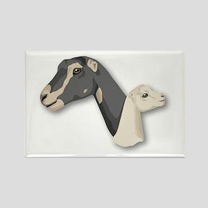 LaMancha Goat Rectangle Magnet
