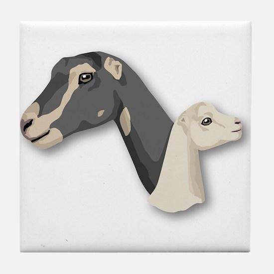 LaMancha Goat Tile Coaster