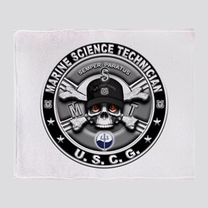 USCG Marine Science Technicia Throw Blanket