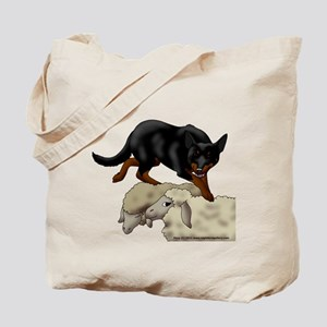 Kelpie On Sheep Tote Bag
