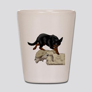 Kelpie On Sheep Shot Glass