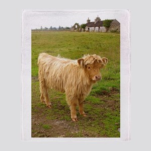 Heilan Coo (Highland cow) Throw Blanket