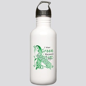 I Wear Green I Love My Wife Stainless Water Bottle