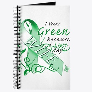 I Wear Green I Love My Wife Journal