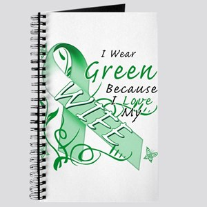 I Wear Green I Love My Wife Journal