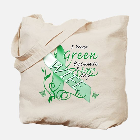I Wear Green I Love My Wife Tote Bag
