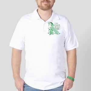 I Wear Green I Love My Wife Golf Shirt
