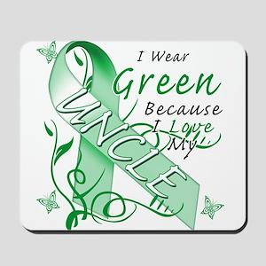 I Wear Green I Love My Uncle Mousepad