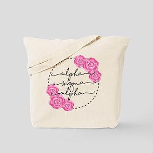 alpha sigma alpha floral Tote Bag