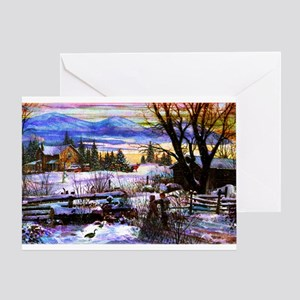 Winter Walk Home Greeting Card