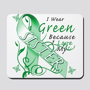 I Wear Green I Love My Sister Mousepad