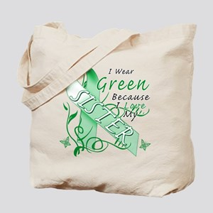 I Wear Green I Love My Sister Tote Bag
